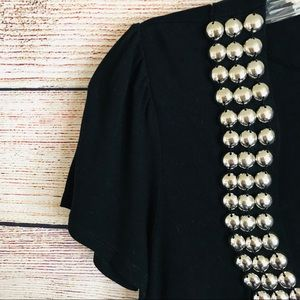 INC International Concepts Tops - INC | Studded Neckline Black Top